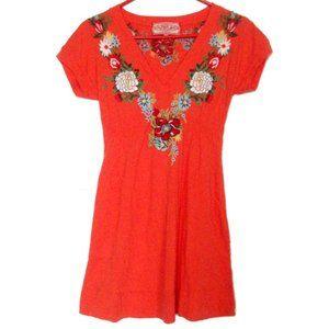 Johnny Was | JWLA Orange Embroidered Tunic Dress